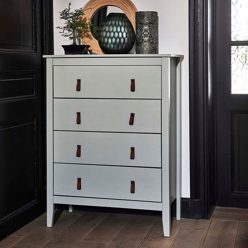 commode 4 tiroirs blanche