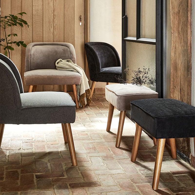 fauteuils en tissu