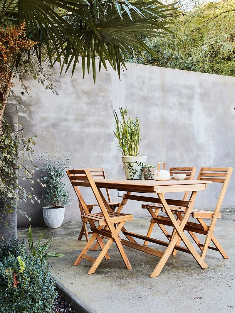 table et chaise de balcon
