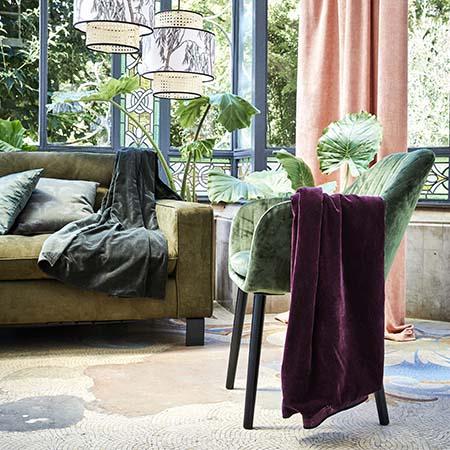 fauteuil cosy en velours