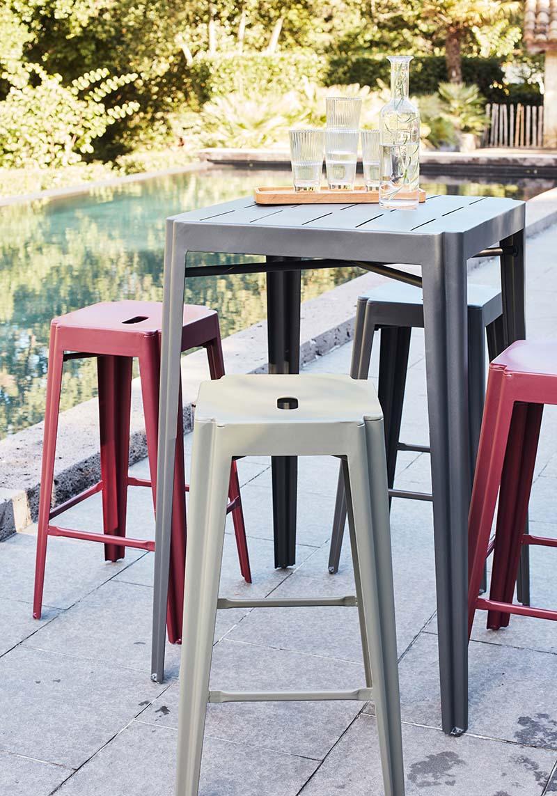 table haute et tabouret de bar