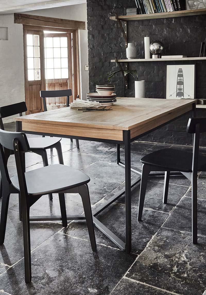table de repas extensible style industriel