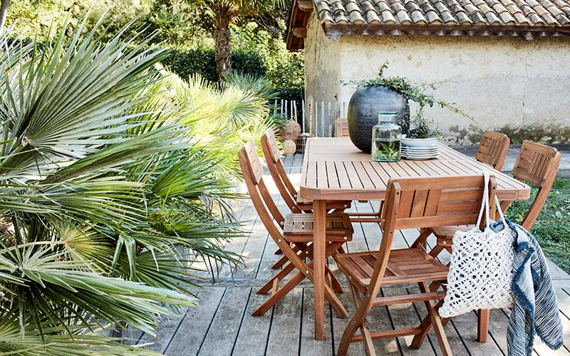 table et chaise de jardin