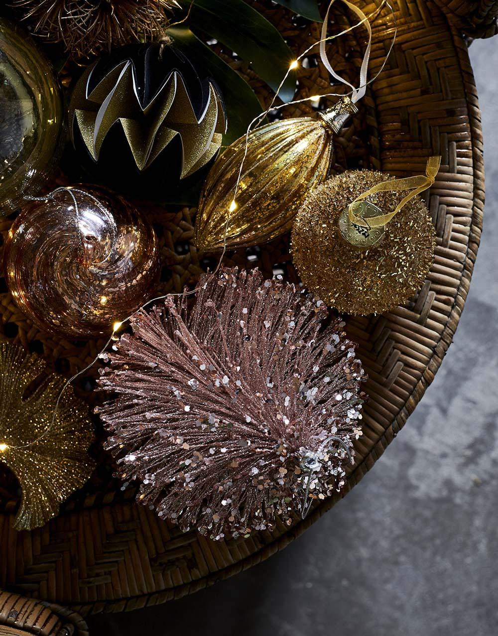 décoration de noël rose et or