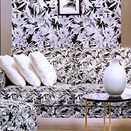 canapé motif orchidée en édition limitée