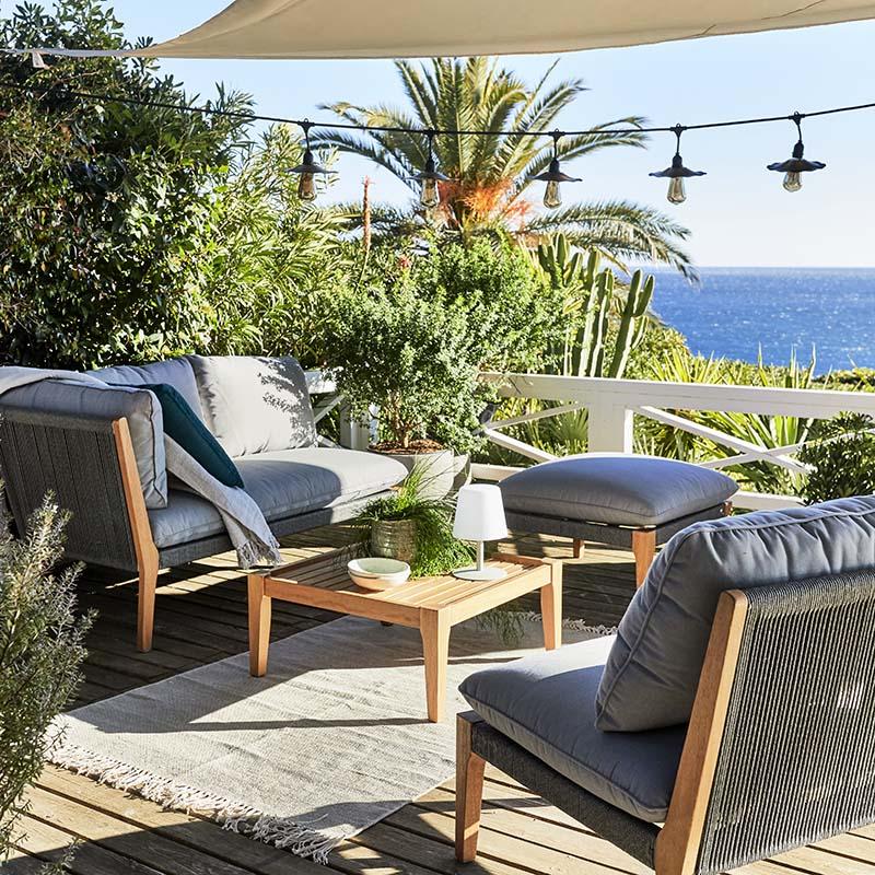 salon de jardin en eucalyptus