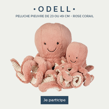 odell peluche poulpe rose