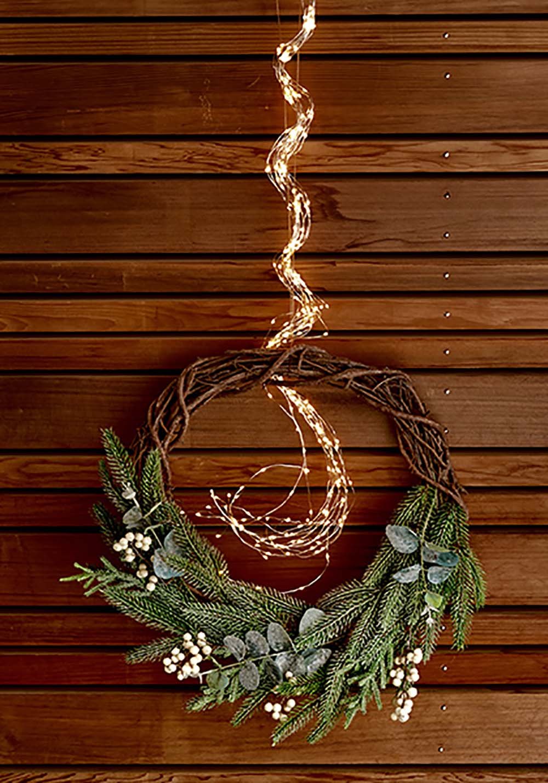 couronne de noël végétale