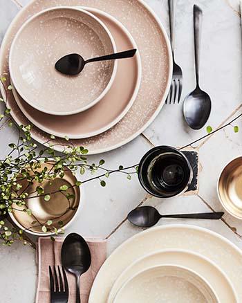 camelia gamme de vaisselle en faïence