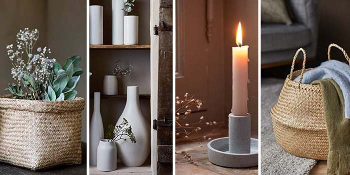 vases paniers bougies rangement en osier