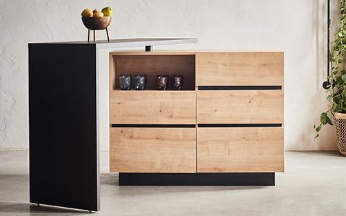 Ilot central de cuisine et meuble bar alinea Catalogue cuisine alinea