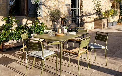 tables de jardin en métal - meubles et décoration   alinea