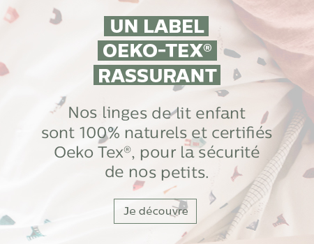 alinea mini linge de lit enfant oeko-tex